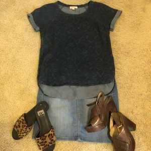 Cloth & Stone Denim Top